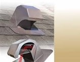 Roof Vent 60PRO30 Goose Neck Bathroom Vent with Collar -Duraflo